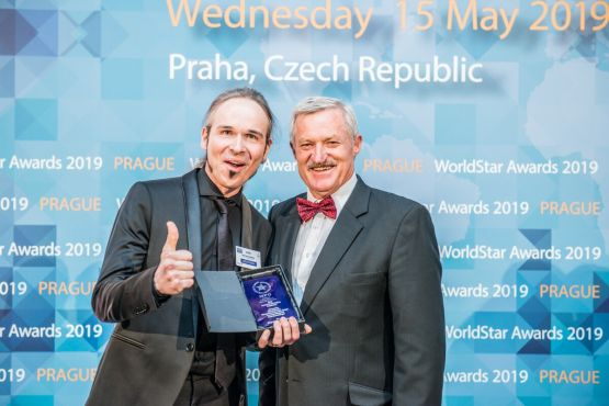 Maik Bermeitinger bei der Verleihung des World Star Awards in Prag